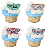 24 ~ Disney Planes Dusty & Buddies Rings ~ Designer Cake/Cupcake Topper ~ New!!!!!