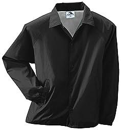 Augusta Sportswear MEN\'S NYLON COACH\'S JACKET/LINED 4XL Black