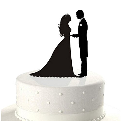 Bride & Groom Acrylic Wedding Cake Topper