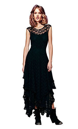 CA-Mode-Womens-Sleeveless-Floral-Lace-Tiered-Long-Irregular-Party-Dress