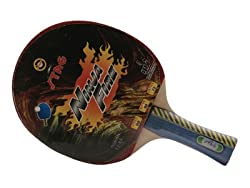 Stag Ninja Fire Table Tennis Racquet with ITTF Authorised Rubber