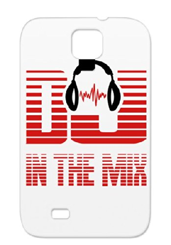Dj_Mix Music Music Disco Headphone Birthday Rock`Nroll Headphones Metal Pop Sounds Sound R B House Dance R&Amp;B Rock Classic Dj Hiphop Rock And Roll Party Dancer Jazz Country Records Fun Red For Sumsang Galaxy S4 Cover Case