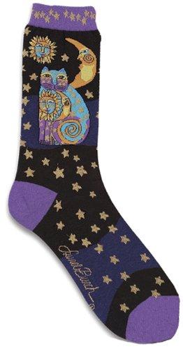 prima-marketing-laurel-burch-calcetines-celestial-cat-negro