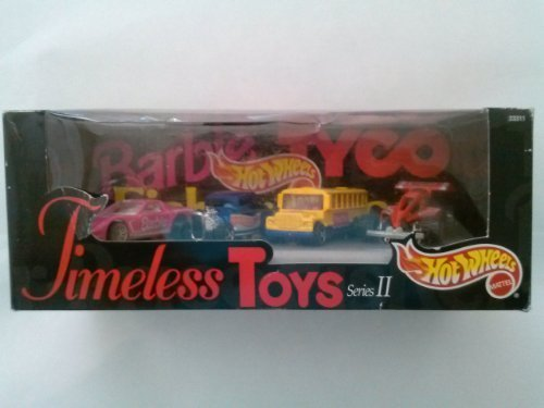 Hot Wheels Special Edition Timeless Toys Series II (Barbie car, Fisher Price Bus, Hot Wheel and tyco car)