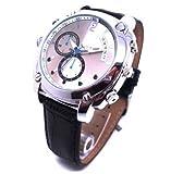 Axvalue HD高画質 水深100M防水 暗視撮影機能搭載 高級防水腕時計型 フルハイビジョンビデオ&カメラ AX-047 高解像度4032×3024 4GB内蔵1080Pレンズ 皮ベルト ハイスペックモデル
