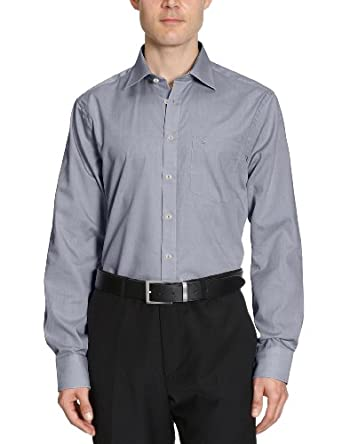Seidensticker Herren Regular Fit Businesshemd KENT 002000, Gr. Small (Herstellergröße: 38), anthra