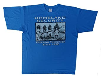 DarkArt-Designs Lifestyle T-Shirt Homeland Security regular fit, Azure, M