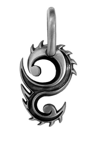 BICO AUSTRALIA JEWELRY (E160) DRAGON FLAME – GUARDIAN OF PROSPERITY – Comes with a Generic 18 inch (to 20in) Adjustable 4mm Black Rubber Necklace.