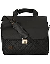 Toog Leatherette Executive Look Laptop Bag (Black, TG1240GC320)