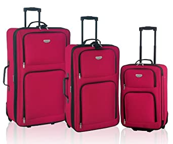 Genova Collection- 3 Piece Expandable Traveler's Set in Red