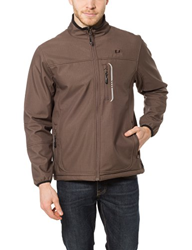 Ultrasport Men's Stan Soft Shell Jacket - Brown, XX-Large
