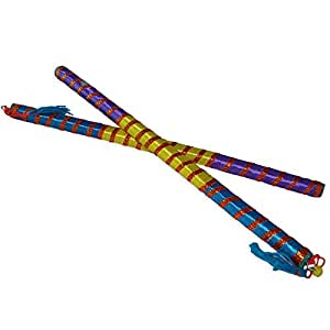 Buy Wooden Multicolor Dandiya Sticks Navratri Celeberation