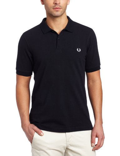FRED PERRY FP Plain Shirt, Maglietta Uomo, Navy, L