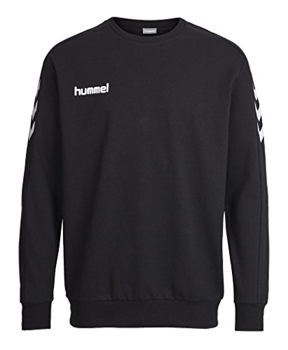 Hummel - Felpa da uomo Core Cotton Sweat, Uomo, Sweatshirt CORE COTTON SWEAT, nero, XXL