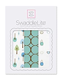 SwaddleDesigns SwaddleLite, Cute & Calm Lite (Set of 3 in SeaCrystal)