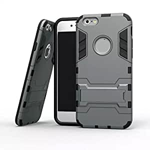 Siwei iphone 6 plus case iron man phone case Slim Fit with Kickstand Phone Case for iPhone 6 plus 5.5 inches Light Grey