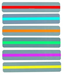 Set of 6 Colors - ChefLand Reading Guide Plastic Strips-Transparent Colored Tinted Overlays, 7.25\