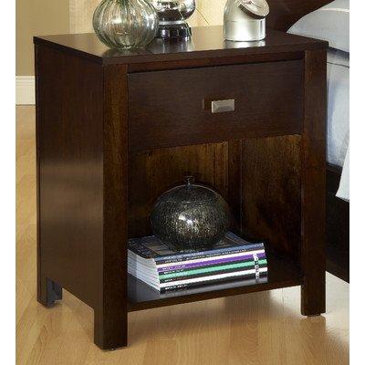 Modus Furniture International Riva 1-Drawer Nightstand, Chocolate Brown front-680291
