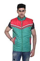Sleeveless Quilted Jacket for Men by COLORS & BLENDS - Green - L size