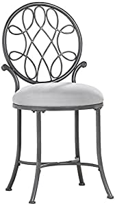 Hillsdale o 39 malley vanity stool kitchen dining - Amazon bedroom chairs and stools ...