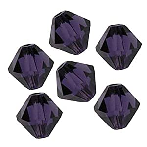 Swarovski Crystal Bicones 5328 4mm Purple Velvet Beads(50)