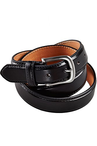 Edwards Men'S Bp01 Brushed Nickel Buckle Apparel Belts (Black L)