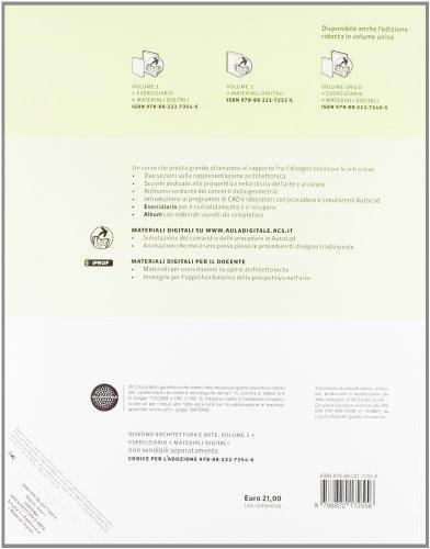 Libro disegno architettura e arte con eserciziario con for Strumento di disegno di architettura online