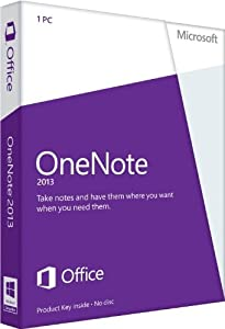 Microsoft OneNote 2013, Licence Card, 1 User (PC)