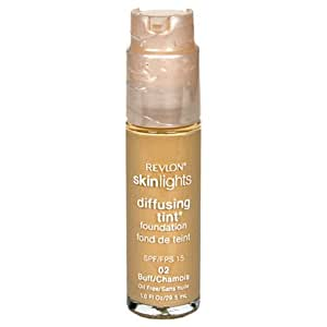 Revlon SkinLights Diffusing Tint Foundation, SPF 15, Buff 02, 1 Fluid Ounce (29.5 ml)