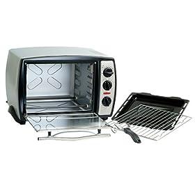 Maxi-Matic ETO-180 Elite Gourmet 18-Liter Toaster Oven, Silver