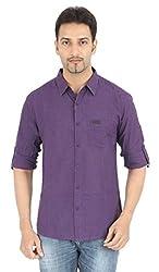 Spykar Purple Casual Shirt (Size:XL)
