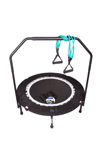 MaXimus Pro Quarter Folding Mini Trampoline Includes DVD Bar Bag Bands Weights