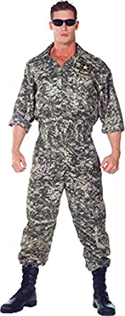 Underwraps Mens U.S. Army Jumpsuit Adult Plus Costume