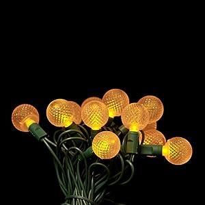 Yellow G25 LED Christmas lights 12.5ft. - G25 Yellow Globe light strings
