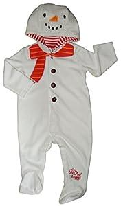 Snowman Christmas Romper Outfit Unisex 0-3M up to 18-24M 100% Cotton Unisex