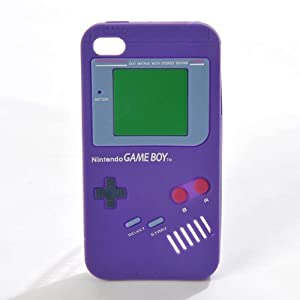 "AIO ?tui en Silicone ""GAMEBOY"" Housse Coque pour Apple iPhone 4"