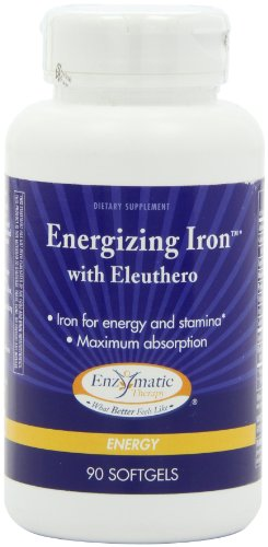 Enzymatic Therapy Energizing Iron With Eleuthero, 90 Softgels