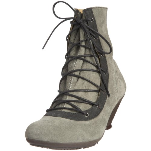 Fly London Women's Lama Grey/Black Lace Up Boot P141658001 Grey/Black 4 UK