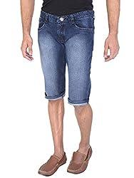 WineGlass Non-Strechable Shorts Fit Men's Blue Jeans 366ST Size -38