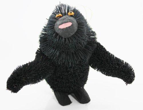 Martha Stewart Buri Bristle Brush Standing Gorilla Christmas Ornaments