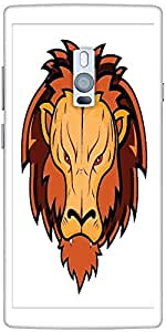 Snoogg lion mascot Hard Back Case Cover Shield For Oneplus Two