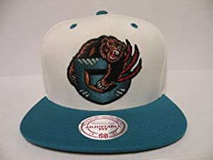 Mitchell and Ness NBA Memphis Grizzlies Logo Off White 2 Tone Retro Velcro Back Cap by Mitchell & Ness