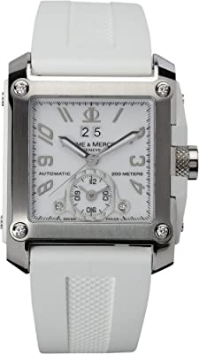 Baume & Mercier Men's 8839 Hampton Square XL Automatic Diamond Watch