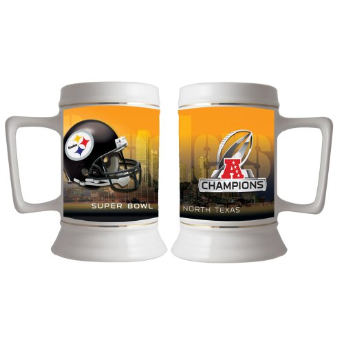 NFL Pittsburgh Steelers AFC Champion 28-Ounce Stein, White