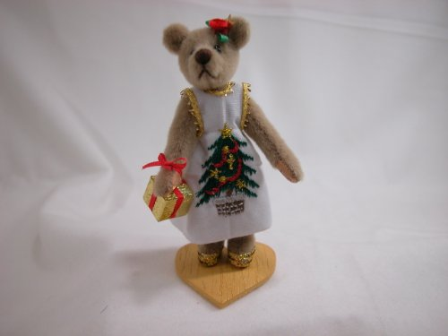 "World of Miniature Bears 3.25"" Cashmere Bear Melody #959 Collectible Miniature Bear Made by Hand"