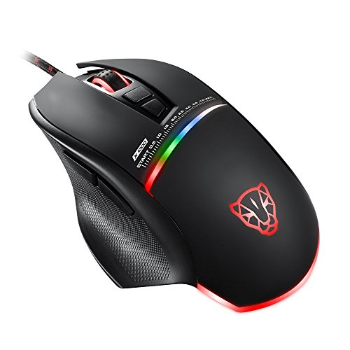 KLIM Skill Mouse da Gioco ad Alta Precisione USB- NUOVO - DPI Regolabile - Tasti Programmabili - Presa comoda per mani di tutte le dimensioni - Presa eccellente