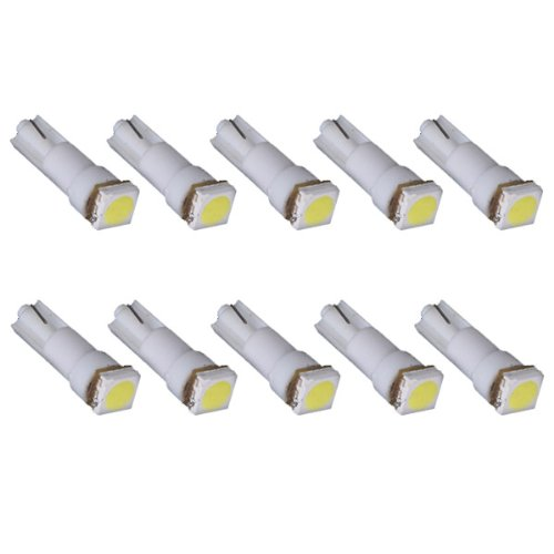 10X T5 286 5050 Smd Led Car Wedge Speedo Dashboard Light Sidelight Bulb White
