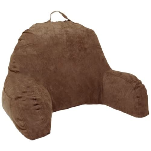 Deluxe Comfort Microsuede Bedrest Pillow Brown