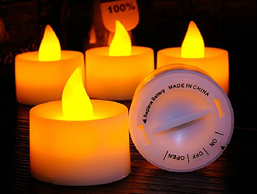 Set Of 12 New Style Twist Switch Small Flameless Tea Light Battery Operated Led Candles Long Hours Of Lighting About 100 Hours