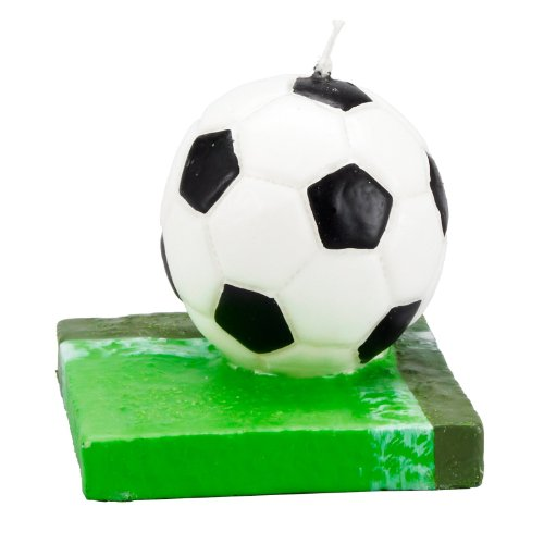Soccer Molded Candle (1 count) - 1
